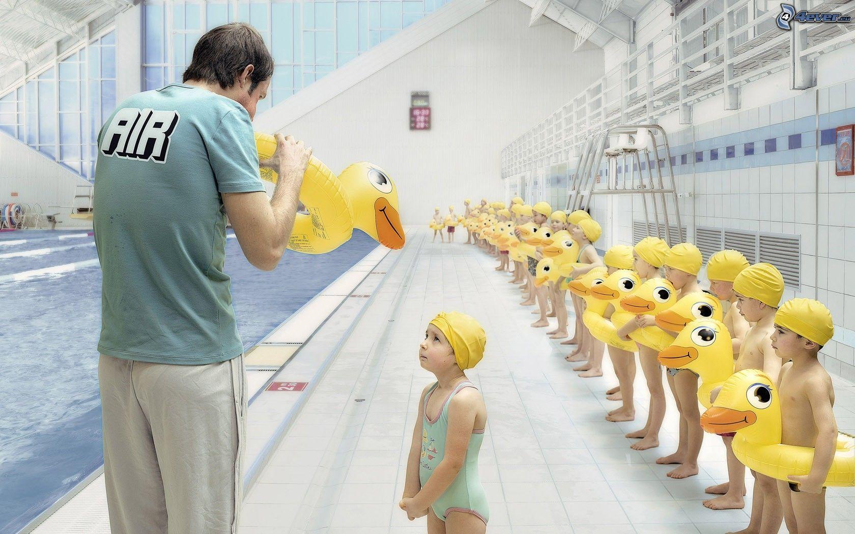 children,-swimming-pool,-pool,-ducks-164077