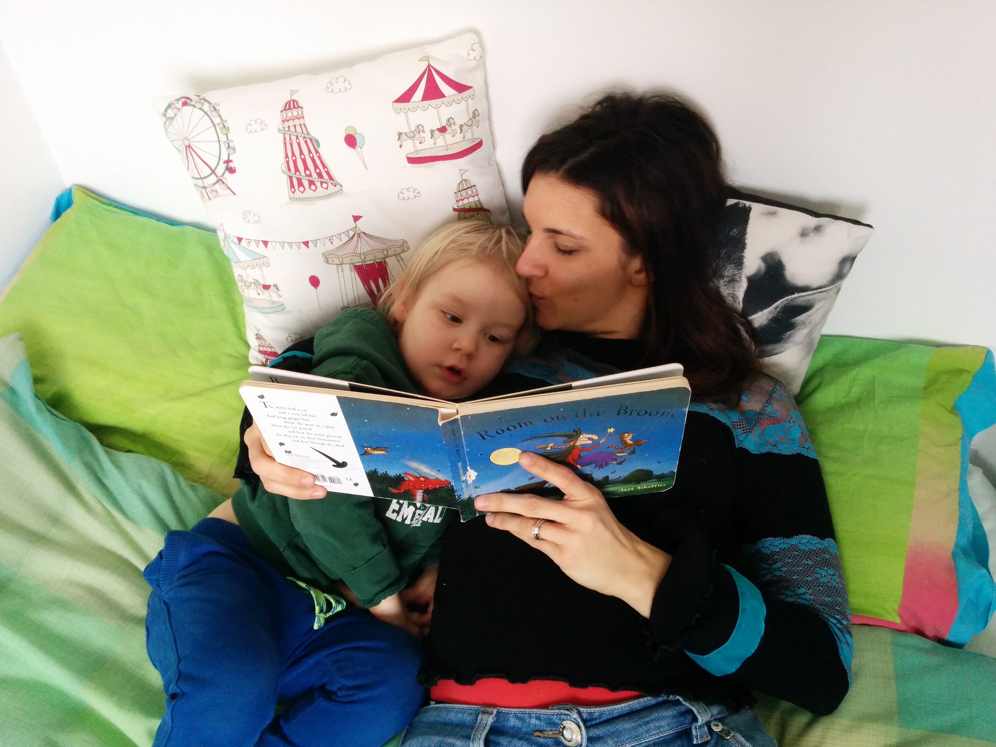Gisella and Ben reading