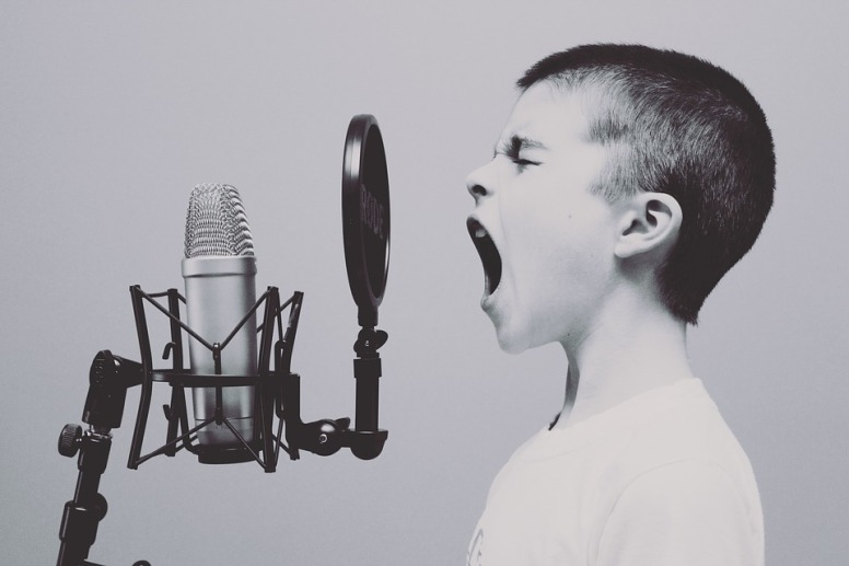 Studio Screaming Microphone Yelling Boy Sing